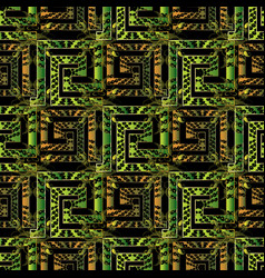 antique geometric 3d meander seamless pattern with vector image