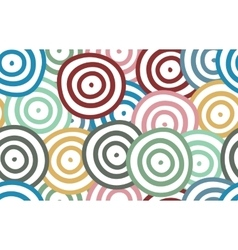 Background of colorful curved rounds vector image