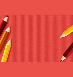 Background template design with colorpencils on vector