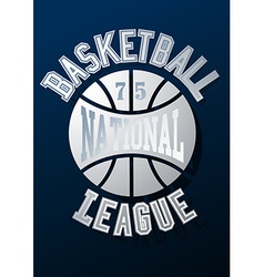 Basketball national league on a navy blue vector