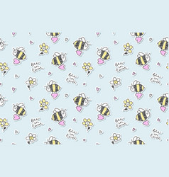 bee in love seamless vector image