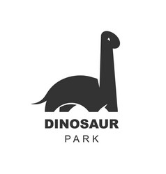 brachiosaurus dinosaur logo design element vector image