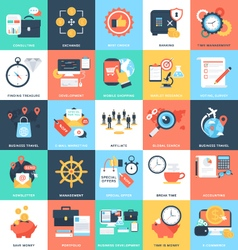 Business Concepts Icons 10 vector