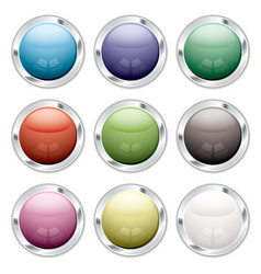 button candid silver vector image