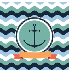 card on the sea anchor vector image