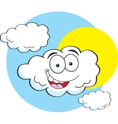 Cartoon happy cloud vector image