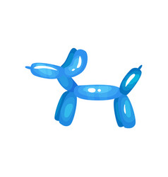 cartoon icon of bright blue balloon in shape dog vector image