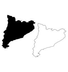 catalonia map vector image