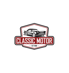 classic car logo template vector image