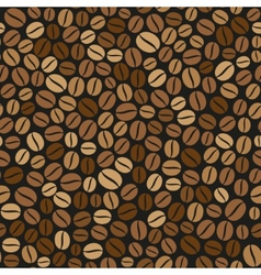 Coffee Beans Seamless Pattern on Dark Background vector