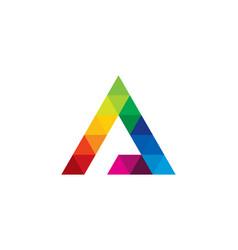 color letter a logo icon design vector image