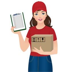 Courier delivery services vector