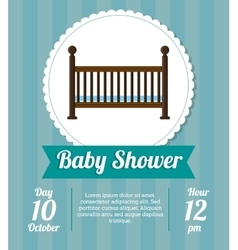 Cradle of baby shower card design vector image