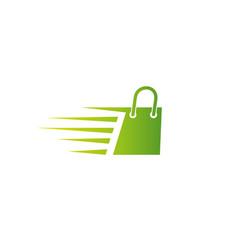 creative abstract fast bag shop logo design symbol vector image