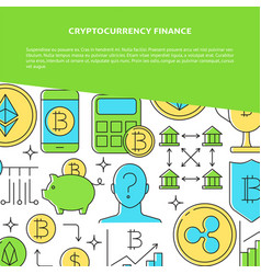 cryptocurrency concept banner with place for text vector image