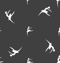 Dance girl ballet ballerina icon sign Seamless vector