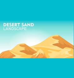 Desert sand landscape background vector