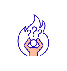 Emotional burnout and stress person red rgb vector