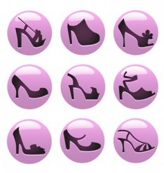 fashion shoes icon vector image