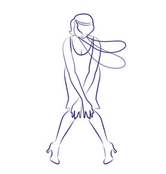 Flapper girl wearing 1920s clothes and long vector