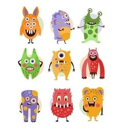Funny Emotional Cartoon Monsters vector