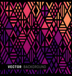 geometric colored background vector image