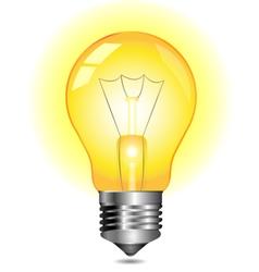 glowing yellow light bulb vector image