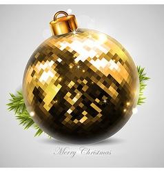 golden Christmas ball vector image vector image