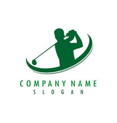 golfer design vector image