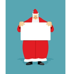 Good Santa Claus holding blank sign with space for vector image