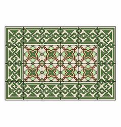 Green carpet vector