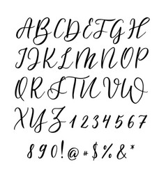 Hand drawn letters lettering and custom vector