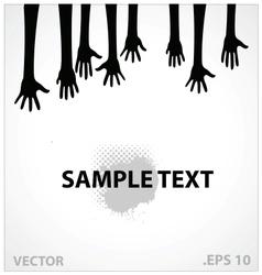 Hands sign black color vector