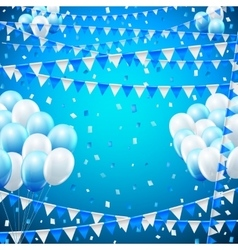 Holiday baloon banner vector