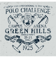 Horseback polo sport challenge vector