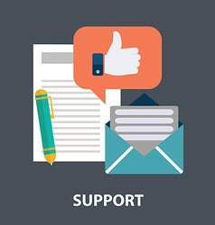 Icons for faq newsletter support contact vector