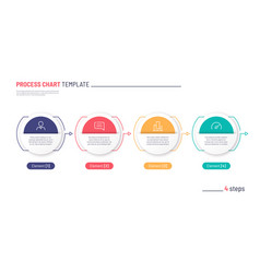 Infographic process chart template four vector
