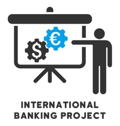 International Banking Project Icon With vector