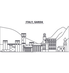 italy garda line skyline vector image