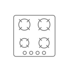 kitchen stove icon symbol line style vector image