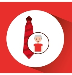 Man gift red tie graphic vector