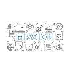 Mission outline modern banner business vector
