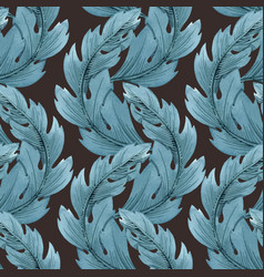 modern art nouveau tiffany pattern vector image