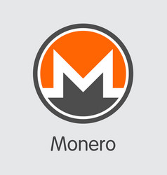 monero - cryptocurrency logo vector image