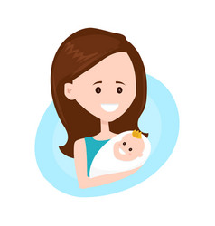 mother modern flat style character holds vector image