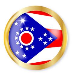 Ohio flag button vector