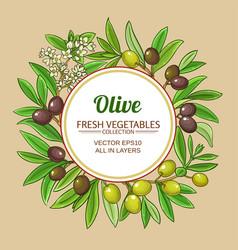 olive frame vector image