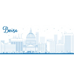Outline Boise Skyline vector image