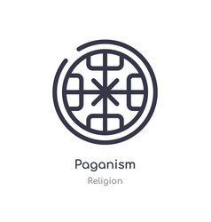 Paganism outline icon isolated line from religion vector