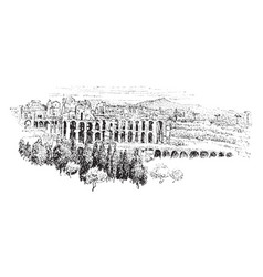 palatine from the aventine the most ancient parts vector image